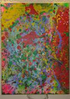 Lilo Kinne, Malerei, Abstrakt, Acryl auf Leinwand, 1994, Original,