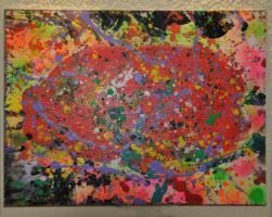 Foto 2 Lilo Kinne, Malerei, Abstrakt, Acryl auf Leinwand, 1994, Original,