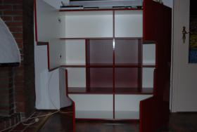 Foto 2 Low Board&Schrank Kubus Lack rot