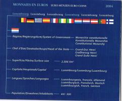 Foto 4 Luxemburg Euro Kursmünzensatz '' 2004 '' !