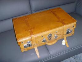 Luxuriöser echtlederner Picknickkoffer, für 4 Personen-ein echtes Liebhaber-Stück