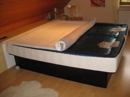 Foto 3 Luxus Doppel Wasserbett Softside Hohlkehl Rahmen HK 200/200