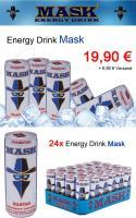 Foto 6 MASK Energy Drink - 6 Varianten - 24 Dosen / 0,25 Liter - MDH 2013 - PFANDFREI