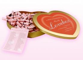 ME4U Lovebox - Herzbox mit Liebeslosen - Geschenkidee z.b. zum Valentinstag