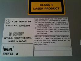 Foto 2 MERCEDES RADIO AUDIO 20 mit CD WECHSLER MH 3210