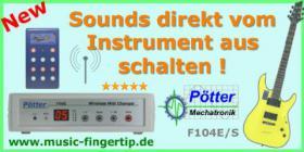 MIDI Fu�controller, Midi Flu�leiste, Midi Fu�pedal, Fu�schalter, Effektger�te