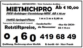 MIETMICHPRO-Anhängervermietung - NRW