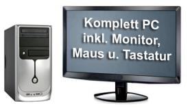 MINI-PC inkl. TFT-Monitor (47 cm), Tastatur, Maus, DVD-ROM *NEU*
