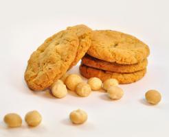 Macadamia Cookies mit weiße Schokolade
