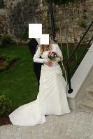 Märchenhaftes Hochzeitskleid mit vielen Extras