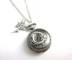 ' Magische Rose ' Kettenuhr