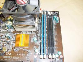 Foto 2 Mainboard EliteGroup K7S5A + 1,1 Ghz Prozessor