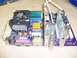 Mainboard EliteGroup P4S5A + Intel Pentium 4 1,60 Ghz