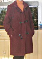 Mantel, Damenmantel, bordo Gr. 38