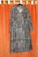 Mantel, Pelzmantel, Indisch Lamm, grau
