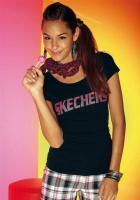 Marken-Shirt schwarz-pink von Skechers - Größe 34 - Neu & OVP