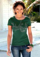 Marken-T-Shirt, grün