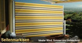 Foto 3 Markisen als Sichtschutz, Windschutz, Seitenmarkise.