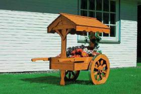 Marktwagen mit Holzdach