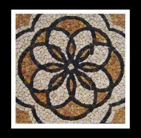 Fliesen Hattingen marmor rosone 90 x 90 x 1 cm mosaik fliesen bilder einleger dortmund