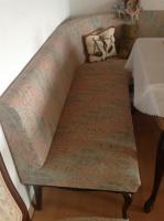Masive Antik Eckbank mit Federkern mit 2 Stühle und  Tisch