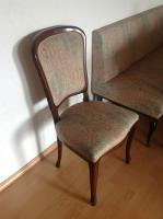 Foto 2 Masive Antik Eckbank mit Federkern mit 2 Stühle und  Tisch