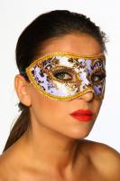 Maske Venezia gold/wei�