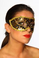 Maske Venezia schwarz/gold