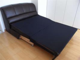 Foto 2 Ma�gefertigte Leder-Schlaf-Couch - neuwertig