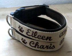 Maßgefertigtes Hundehalsband mit Namen und Telefonnummer
