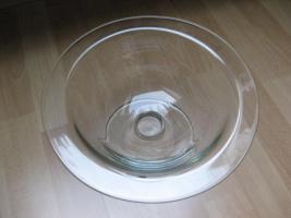 Foto 2 Massive Glasschale von Leonardo, NEU !