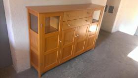 Massivholz-Möbel Erle und Buche in gutem Zustand