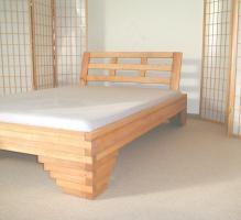 Massivholzbett aus Erle - 200 x 220 cm - aus Restposten - Neuware