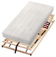 Matratzenset, Kopf- und Fußteil verstellbar mit 7-Zonen Klima-Komfort Matratze