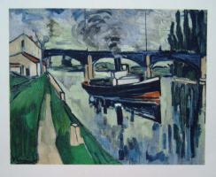 Maurice Vlaminck The seine at Poissy
