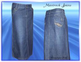 Maxirock Jeans - top elegant - versch. Größen