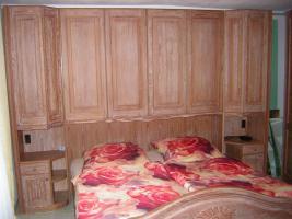 Mediterranes Schlafzimmer komplett - Pinie gebürstet massiv