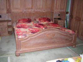 Foto 2 Mediterranes Schlafzimmer komplett - Pinie gebürstet massiv