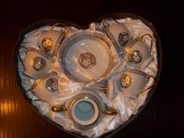 Medusa Tee / Kaffee Service 13 teilig Silber oder Gold Neu, OVP