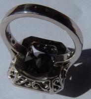 Foto 4 Mega seltene 14k gold & 7.7ct schwarzem Zentrum Diamant-Ring. Zertifikat