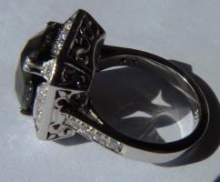 Foto 6 Mega seltene 14k gold & 7.7ct schwarzem Zentrum Diamant-Ring. Zertifikat