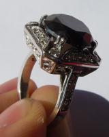 Foto 7 Mega seltene 14k gold & 7.7ct schwarzem Zentrum Diamant-Ring. Zertifikat
