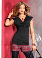 Melrose - Shirt mit Perlen schwarz Gr. 38 - OVP - NEU