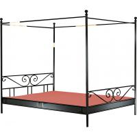 metall himmelbett in schwarz np 199 w neu in. Black Bedroom Furniture Sets. Home Design Ideas
