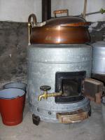 Miele Waschmaschine beheizbar mit Holz großer Bottich aus Zink und Kupfer