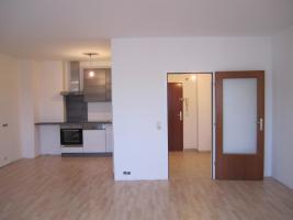 Blick vom Wohnzimmer in Küche und Vorraum
