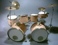 Mini Drum kit – Double Bass (natural-white)