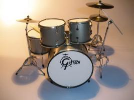 Mini Drum kit – Mini Drum kit Gretsch (silber)