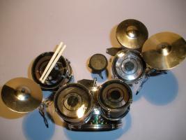 Foto 2 Mini Drum kit Yamaha - Schwarz