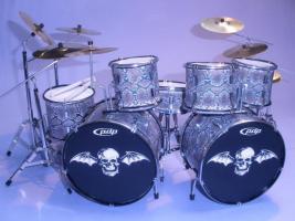 Mini Drum kit - Avenged Sevenfold (snake-skin)